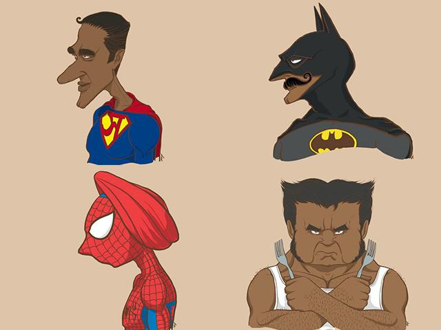 Artist Raj Kamal imagined what superheroes would look like if they were Indian. (Photo credits: Superheroes in India facebook page)