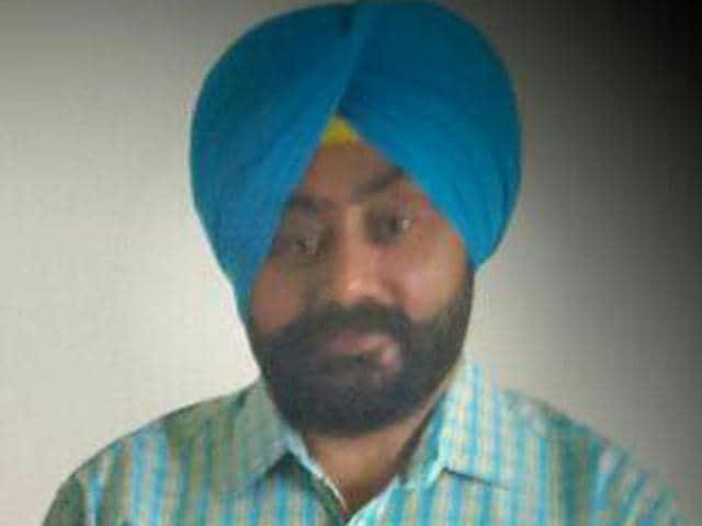 Photo of deceased sarpanch Bhupinder Singh (HT photo)