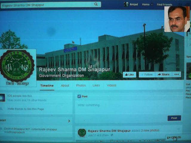 Shajapur,district collector,Facebook
