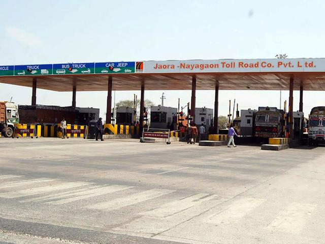 A toll booth plaza in bordering area of the state. (Picture for representation only)