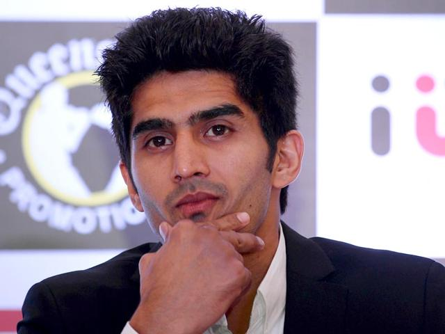 Boxer Vijender Singh will start his training from July 27 in Manchester under trainer Lee Beard for his professional debut in Britain in September. (AFP Photo)