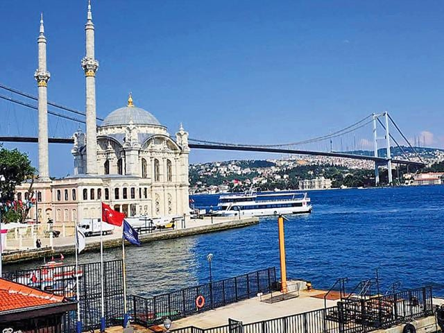 A view of Istanbul from House Café, Ortakoy. From Roman architecture to Ottoman-style painted ceilings, to beautiful summer homes of Sultans and noblemen of a by-gone era, Istanbul never fails to surprise visitors. (HT Photo/ Shruti Dargan)