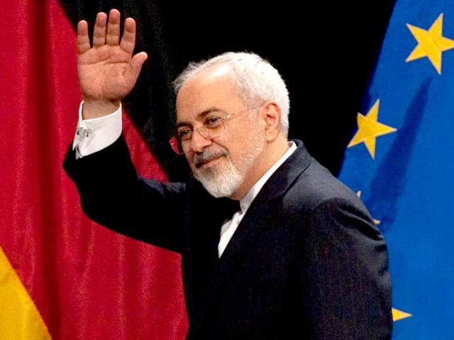 Iranian foreign minister Mohammad Javad Zarif leaves a final press conference of Iran nuclear talks in Vienna, Austria. (AFP Photo)