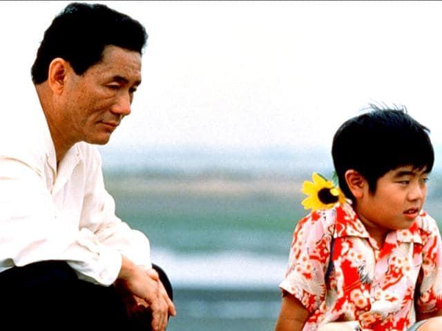 Takeshi Kitano in a still from the film, Kikujiro.