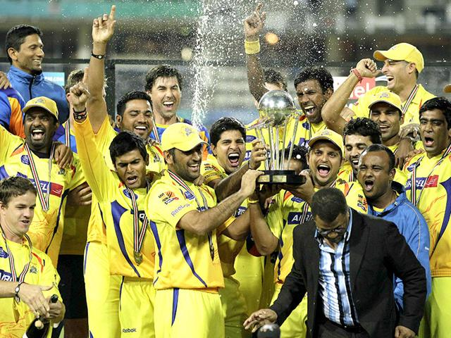 The Chennai Super Kings Indian Premier League (IPL) franchise celebrate winning the Champions League T20 (CLT20) tournament in 2010. The BCCI in a press release on July 15, 2015, announced it was discontinuing CLT20 with immediate effect. (AP File Photo)
