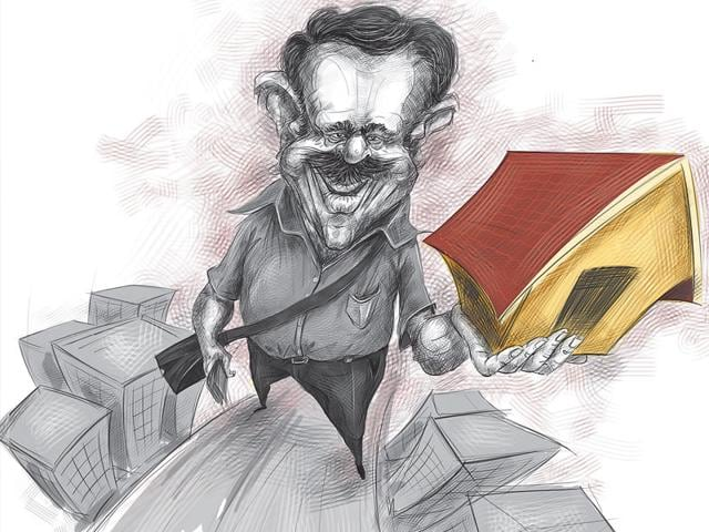 Real estate rates in Mumbai have only continued to rise, ever more sharply, to the point where the price for buying or renting even the tiniest of apartments has begun to sound like a cruel joke. (Illustration: Chetan Patil)