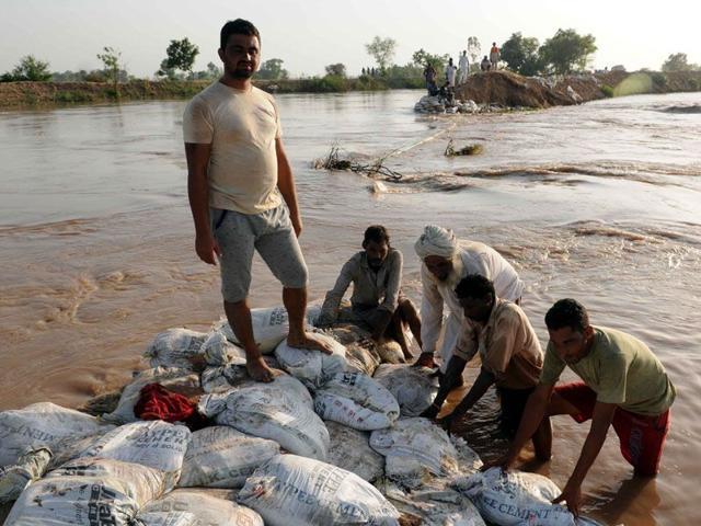 Ghaagar river,breach,flood prevention