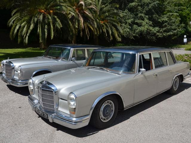 Two Mercedes-Benz 600 limousines that belonged to Maria Callas are estimated between €60,000 and €100,000 each. Photo:AFP