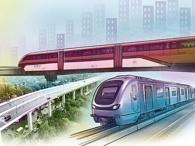 The daily commute in Mumbai is no longer a humdrum bus-train-bus ride. We have the new-age, high-speed Metro. (Illustration: Shrikrishna Patkar)