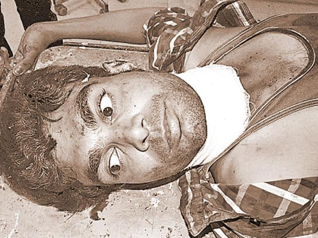 Rajveer Singh, the lover who tried to commit suicide with his lover near Taj Mahal. (HT Photo)