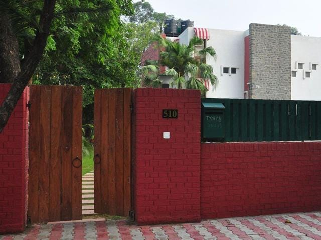 The official residence of UT finance secretary Sarvjit Singh (House number 510) in Sector 16, Chandigarh.