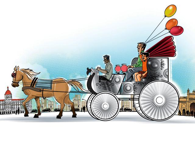 The HC ruled earlier this year that Victorias would no longer ply in Mumbai, officially bringing an end to the days of the phaeton. (Illustration: Ravi Jadhav)