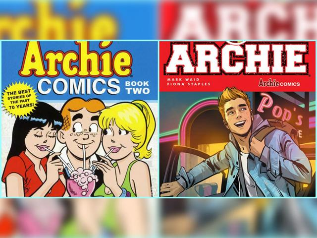 The new avataar of Archie Andrews after characters in the comic series got a make over. (Right) The original look which has been similar for the last 75 years. (left) (Photo Courtesy: Archie Comics)