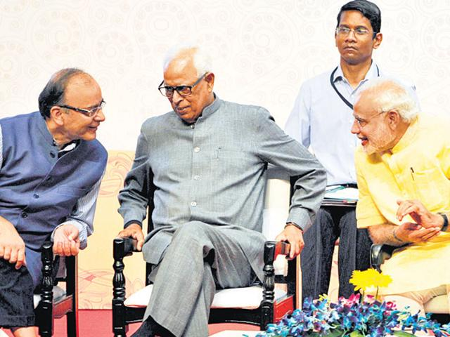 Image result for nn vohra with narendra modi and arun jaitley