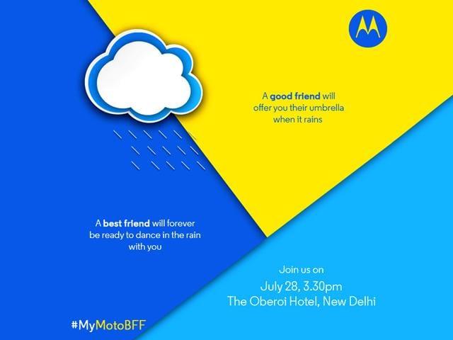 Motorola's invite for the India event.