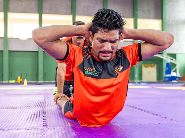 Raider Rishank Devadiga during a training session. (Photo: Ali Bharmal)