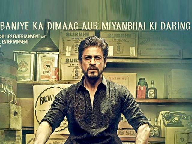 Shah Rukh Khan plays a bootlegger-turned-don-turned-politician in Raees. (Twitter/@iamsrk)