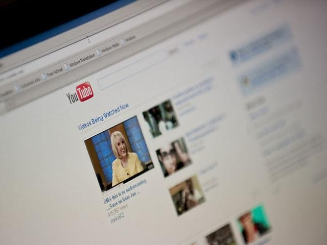 Time spent watching YouTube videos on smartphones or tablets has surged as part of a 60% jump in overall viewer time spent on the website, Google said. Photo: AFP