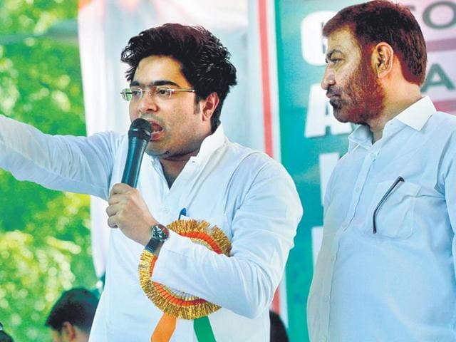 TMC MP Abhishek Banerjee's comment has landed the party in trouble. (Sanjeev Verma/ HT File)
