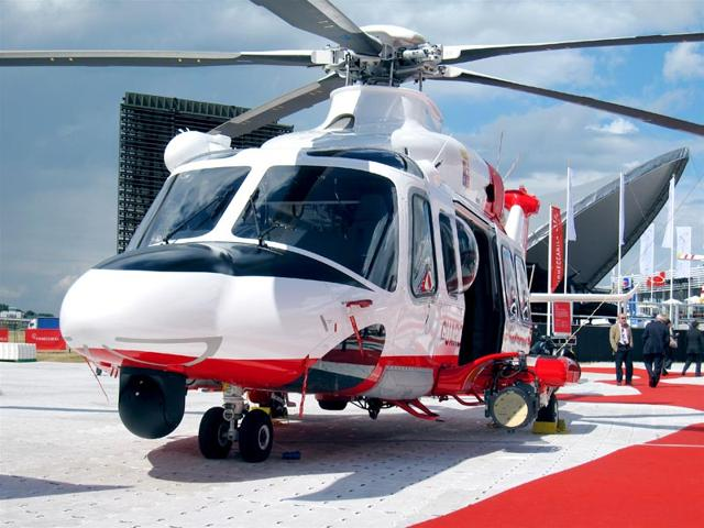 A file photo of an AgustaWestland helicopter. (HT File Photo)