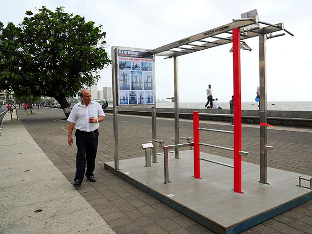 Open-air gym at Marine Drive. (HT photo)