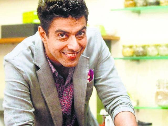Chef Ranveer Brar says that he doesn't run around chasing the future. HT Photo: Vidya Subramanian
