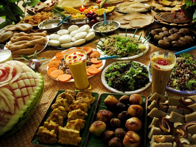 A Moplah food spread. North Kerala's cuisine is famous for its distinct flavour. (HT Photos/ K Sasi)