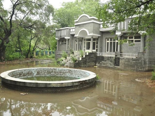 A view of Squash hall at Rakh Bagh in Ludhiana (Sikander Singh Chopra/HT)