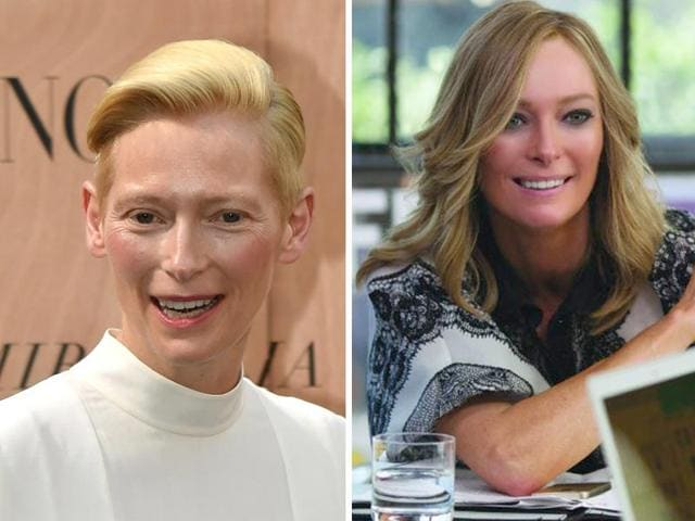Tilda Swinton, whom the world best recognises from Narnia as the white witch, looks unrecognisable in upcoming movie Trainwreck.