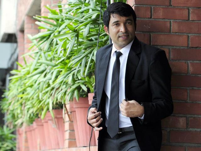 Chandar Prabhakar, who is a regular on the show 'Comedy Nights With Kapil' is all set to appear in another Punjabi film (HT photo)