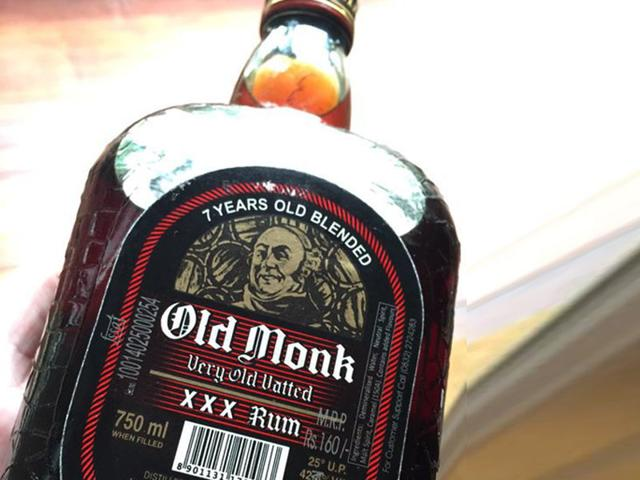 Old Monk Rum is one of the oldest and best selling rum all over the world. Its history began in 1855 since the producer Mohan Meakin Ltd. by Edward Dyer established its brewery, at Kasauli in the Himalayan Mountains. (Credit: Twitter)