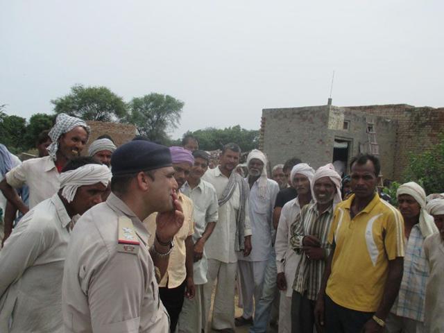 Dharodhi village,Jind district,villagers leaving