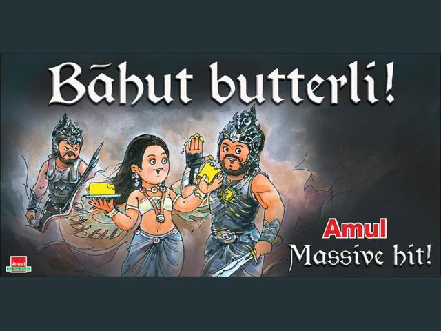 Amul's new ad 'Bahut Butterli!' celebrates the stupendous success of Baahubali.