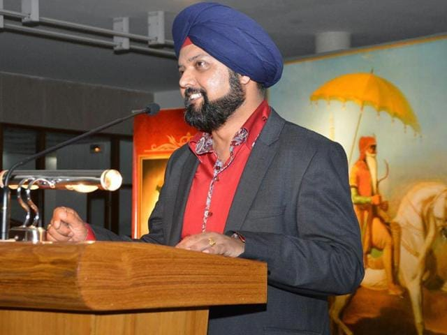 Bobby Singh Bansal at GNDU in Amritsar on Monday. HT/Photo