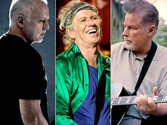 (From left) David Gilmour, Keith Richards and Don Henley.