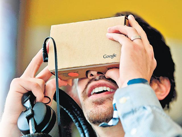 Google's Cardboard is a low-tech gadget that sells for as little as $4, and allows people to watch immersive videos on smartphones.