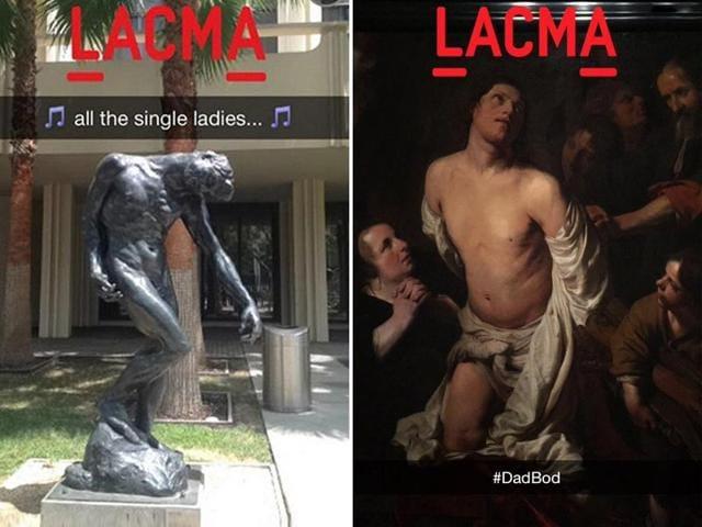 Los angeles county museum of art,lacma,snapchats