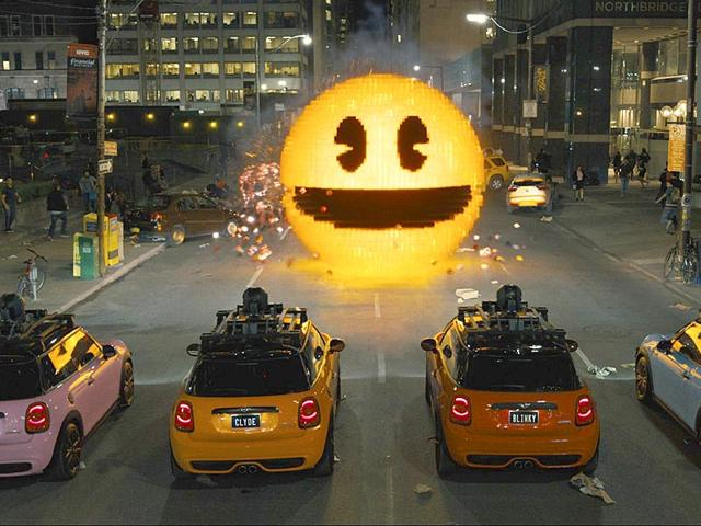 Arcade-style Fast & Furious in Pixels looks thrilling. (Sony Pictures)