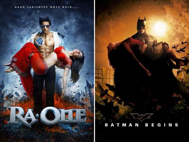 Spot the difference: Movie posters can be iconic and that's why they're frequently ripped-off. (Twitter)