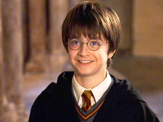 Daniel Radcliffe as Harry Potter. He played the character in eight movies.