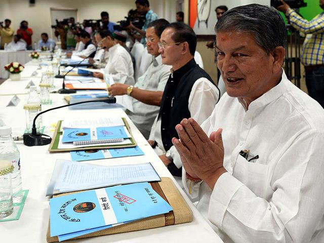 The BJP has claimed that it has accessed a sting video that shows Uttarakhand chief minister Harish Rawat and his personal secretary involved in a liquor scam while the state was hit by the 2013 flash floods. (AFP Photo)