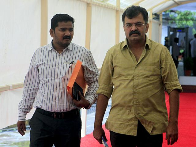 NCP MLA Jitendra Awhad is seen at the Vidhan Bhavan during the ongoing Maharashtra monsoon assembly session, in Mumbai. (Kunal Patil/HT photo)