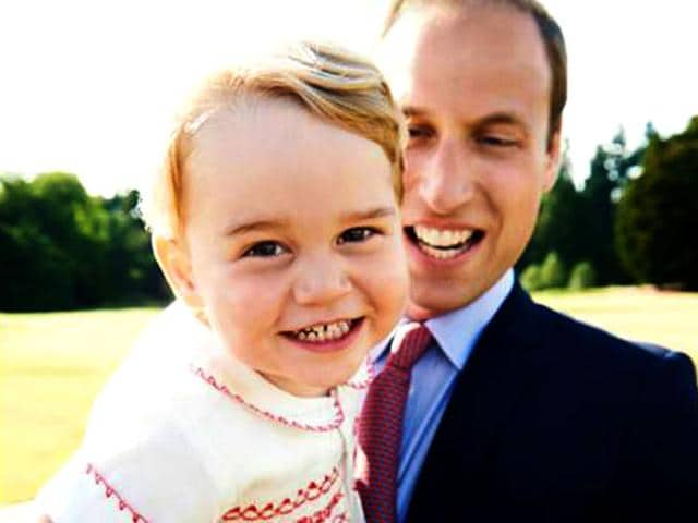 'Look who's turning two tomorrow! #HappyBirthdayPrinceGeorge' read the post put by the official Facebook page British Monarchy. This photograph, released today ahead of Prince George's birthday, is part of the series of official photographs taken by Mario Testino following Princess Charlotte's baptism on Sunday 5th July. (Picture released by Kensington Palace)