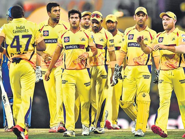 Chennai Super Kings players have bonded for so many years. However, for the next few seasons, they may have to plot each other's downfall. (Virendra Singh Gosain /HT Photo)