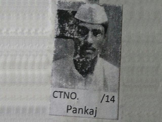 A photo of the 22-year-old murder convict Pankaj Pahade, who has escaped from a jail in Madhya Pradesh.