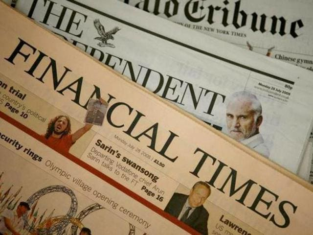 File photo of Financial Times newspaper, which is on the brink of being sold off by Pearson. (Reuters Photo)