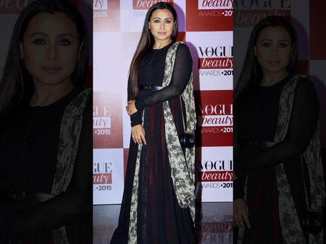 Rani Mukherji at an event in Mumbai. (PTI photo)
