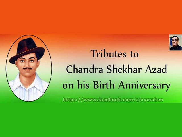 Congress leader Ajay Maken made a blunder when he posted a tribute to Chandra Sekhar Azad with an image of Bhagat Singh. (Source: Facebook)