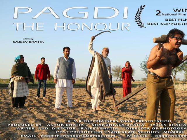 The first Haryanvi film to win a National Award, 'Pagdi: The Honour' marks the debut of 27 people. HT Photo