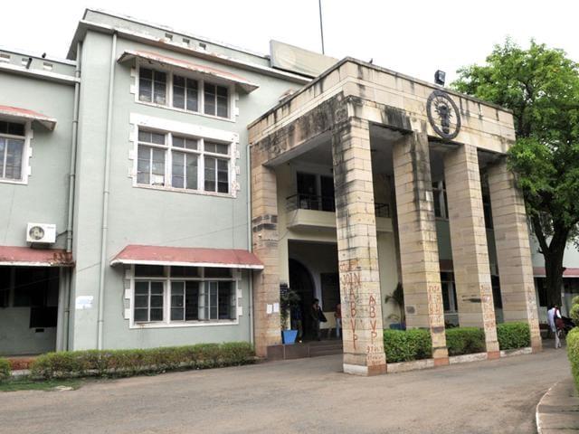 The Gajra Raja Medical College in Gwalior. (Praveen Bajpai/HT file photo)